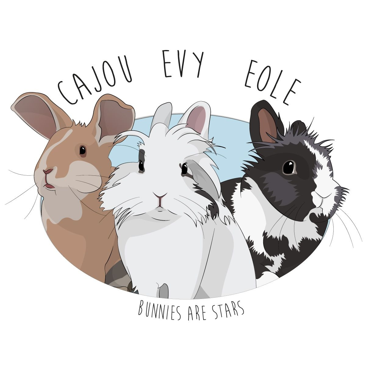 Cajou, Evy et Eole