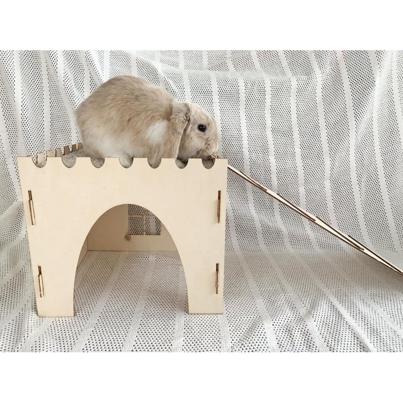 Château et rampe en bois